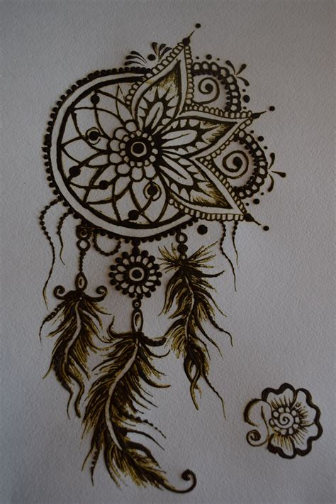 temporary tattoos design henna dreamcatcher desing mehndi feathers