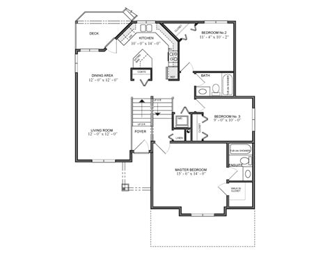 1244 sq ft bilevel house plan 1300 canada