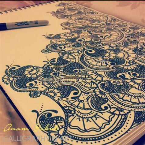 Henna Design With Sharpie | henna mendhi design using a sharpie calligraphy art