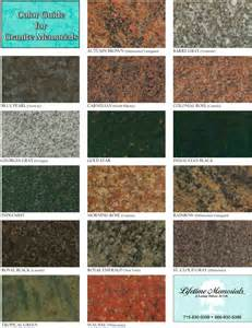 colors of granite granite colors lifetime memorials llc
