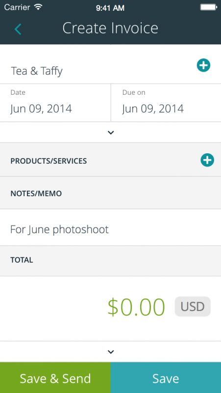 Wave Invoice For Iphone Now Available Fstoppers Wave Invoice Template