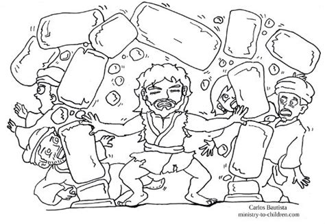 samson destroys dagon s temple coloring page