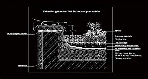 green roof section dwg green roof detail dwg detail for autocad designs cad