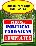 yard sign templates
