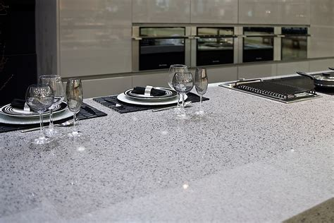 quartz bar top silestone quartz counter top in quot chrome quot kitchen