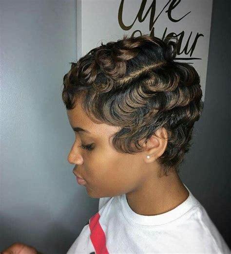 dry waves on black hair 579 best finger wave pixie images on pinterest short