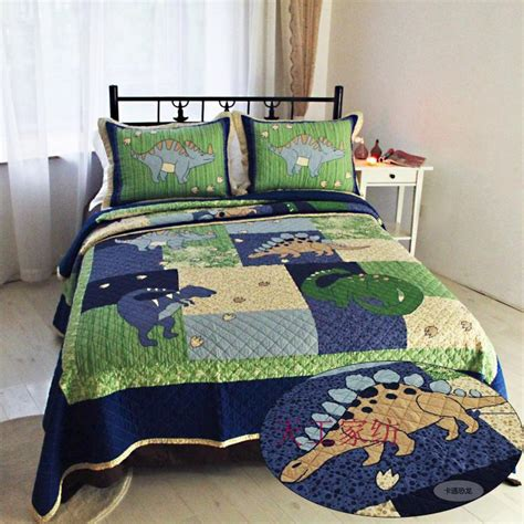 American Style Patchwork Quilts - american style cotton quilt dinosaur patchwork