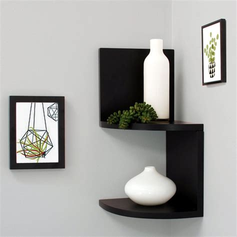 The Practical Corner Wall Shelves Design Corner Wall Bookshelves