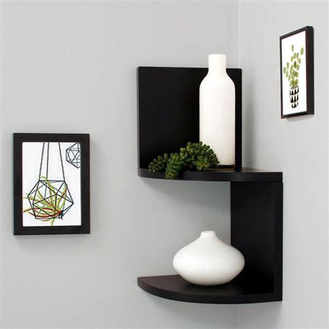 the practical corner wall shelves design