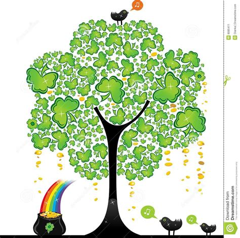 st patrick s day tree 2 stock image image 8085411