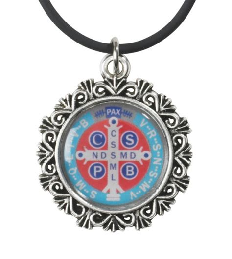 large rubber st st benedict epoxy pendant with a rubber cord