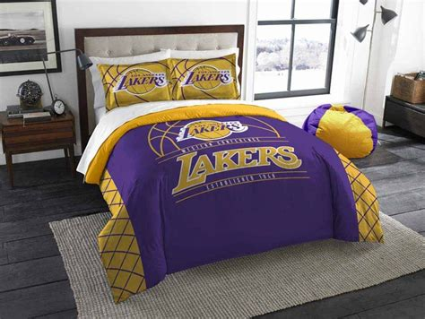 lakers bedroom los angeles lakers full queen comforter and 2 shams