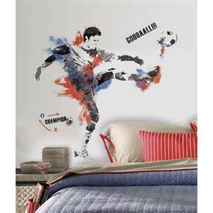 giant football champion wall stickers by roommates room football goal wall sticker by wickeddesigns4
