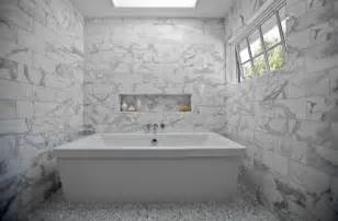 Oly Chandelier Carrara Marble Tile Bathroom Design Ideas