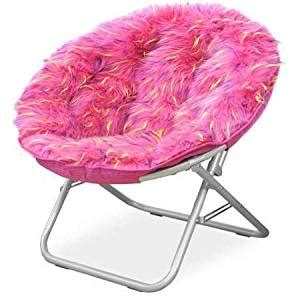 pink fluffy chair fluffy spike faux fur moon chair pink 1