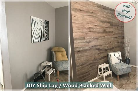 easiest   diy wood plank ship lap accent wall