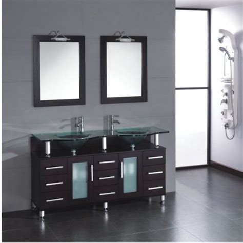 cheap bathroom double vanity sets discount 59 inch double sink wood glass bathroom