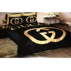 gucci bedding set satin duvet set black gold polyvore
