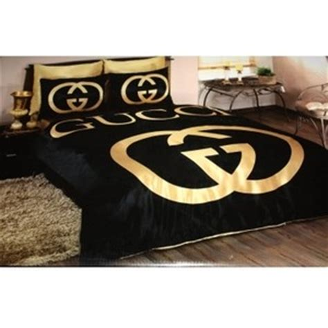 gucci bed set gucci bedding set satin duvet set black gold polyvore