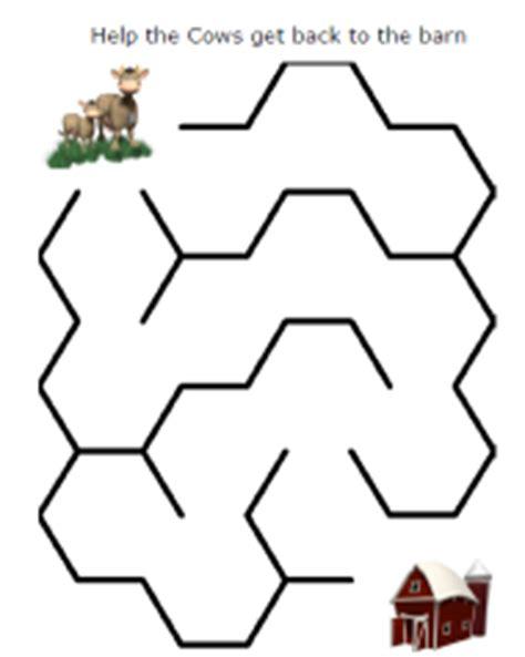 printable cow maze free for kids cow maze