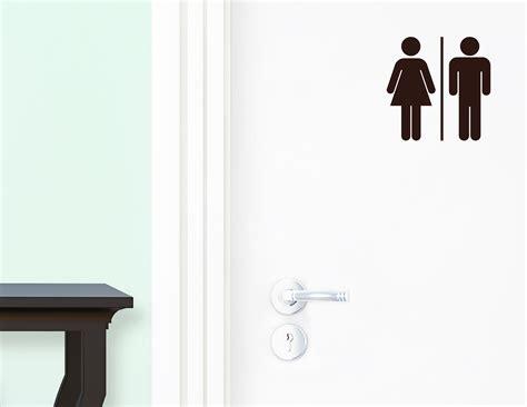 Klebebuchstaben Wc by Wc Mann Frau Aufkleber F 252 R Die T 252 R In Bad Toilette