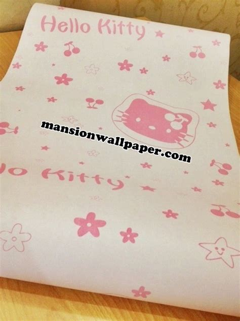 wallpaper dinding rumah hello kitty jual wallpaper dinding anak hello kitty mansion