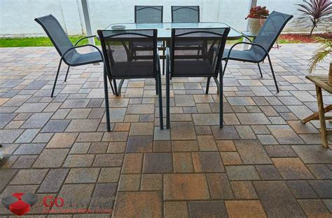 backyard pavers cost get the best patio pavers installation service go pavers