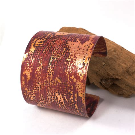 Handcrafted Copper Cuffs - handcrafted copper cuff hammered copper cuff textured copper