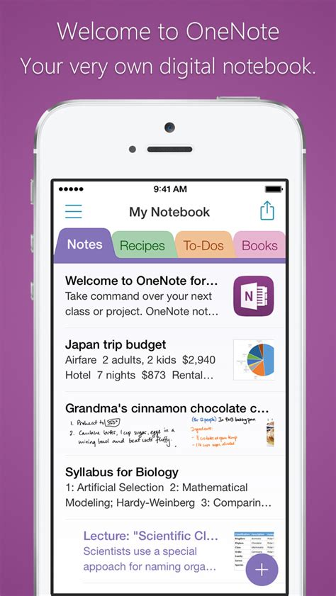 One Note Application Tracker Microsoft Onenote Lists Photos And Notes Organized In