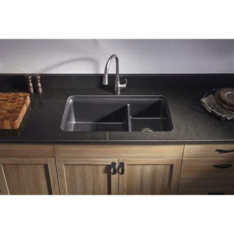 kohler k8204cm1 cairn matte black kitchen sinks sinks