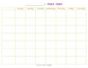 free printable chore chart templates for printable chore chart template