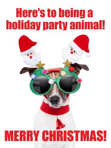 party animal funny christmas card birthday greeting cards  davia