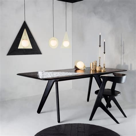 furniture bauhaus modern black and white dining table