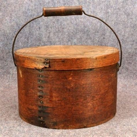 Antique Pantry Boxes by Antique 1800s Covered Pantry Box Large Wooden Metal Handle