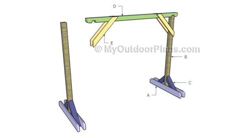 swing stand plans porch swing stand plans free outdoor plans diy shed