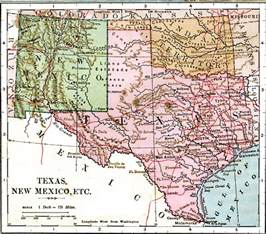 Texas Mexico Map by Texas New Mexico And Indian Territory