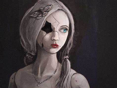 painting doll broken doll by kalliikak on deviantart