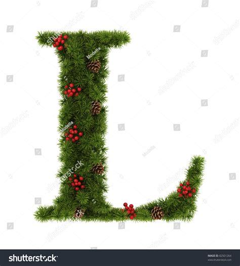 christmas alphabet letter l stock photo 82501264