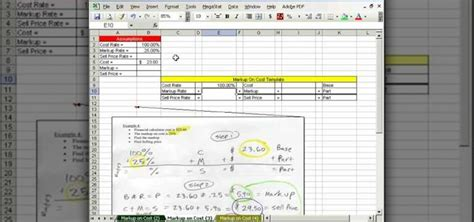 how to calculate markup on cost in microsoft excel