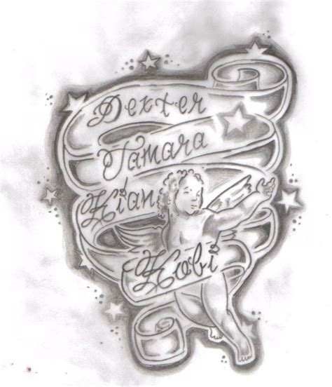 tattoo name honey childrens names tattoo design by tattooed honey on deviantart