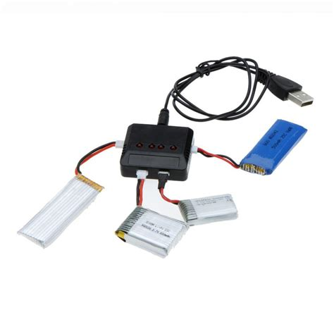 Best Seller Battery Lipo Upgrade Hubsan X4 380mah x4 4 ports mini rc lipo battery usb charger universal rc