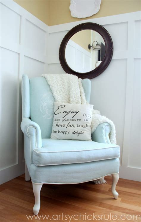 chalk paint upholstery painted upholstered chair makeover chalk paint artsy