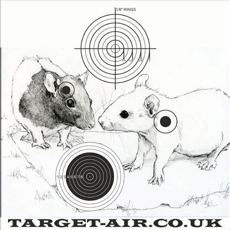 printable rat targets animal rats airgun rimfire shooting targets