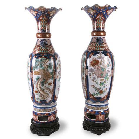 vasi in porcellana coppia di grandi vasi imari in porcellana 1800