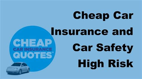 Cheap Car Insurance 2017 by Cheap Car Insurance And Car Safety High Risk Drivers