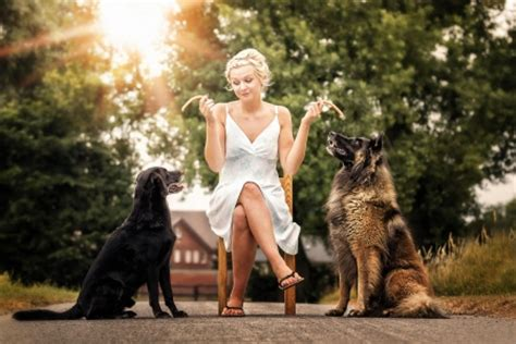 females with dogs with images usseek