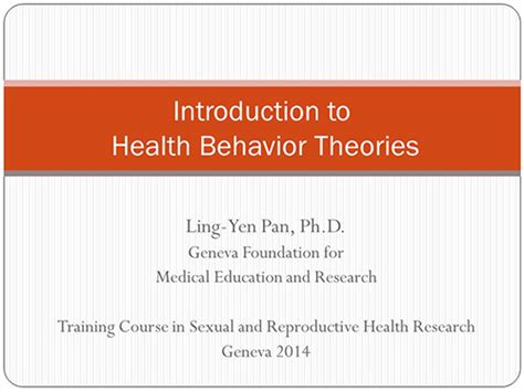introduction to health behavior theory books introduction to health behavioral theories yen pan