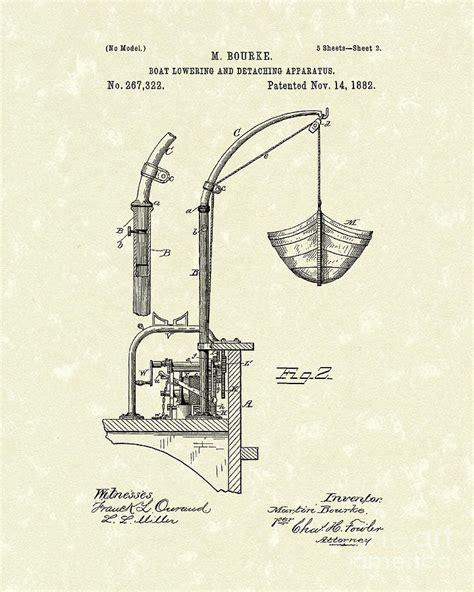 boat canvas attachments boat attachment 1882 patent art drawing by prior art design