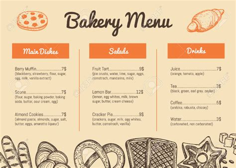 product menu template 11 product menu templates free premium templates