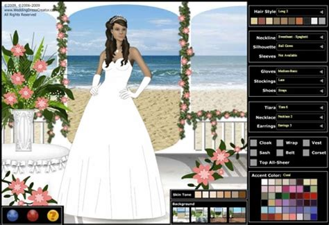 design gown games design a virtual wedding dress online list of wedding